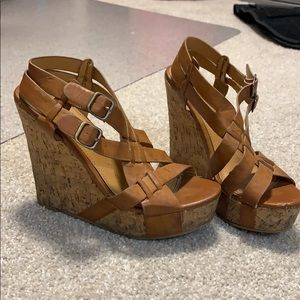 Tan/brown wedges